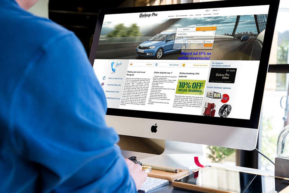 Website Car rental Belgrade