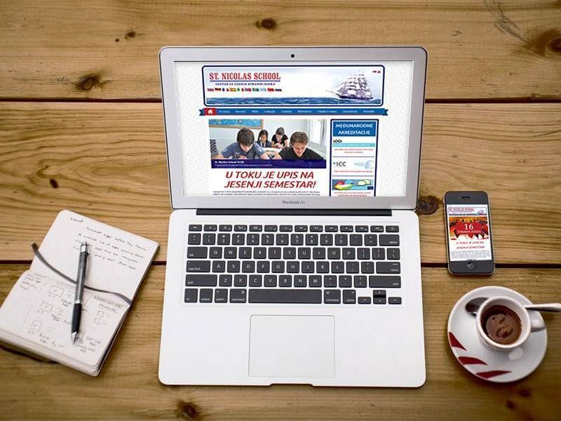 Website ST. Nicolas School
